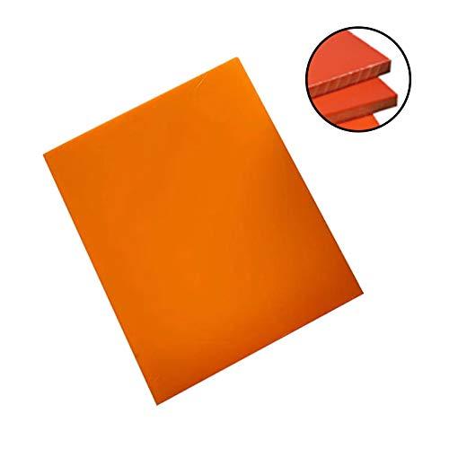 MHUI Tablero De Aislamiento De Baquelita 7.9'X 7.9', Lámina De Placa Plana De Resina Fenólica De Baquelita para PCB Mecánico (Espesor: 3mm/4mm/5mm/6mm),200mm*200mm*6mm