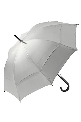 Coolibar UPF 50+ 48 Inch Calotta Fashion Umbrella - Sun Protective (One Size- Silver/Green)