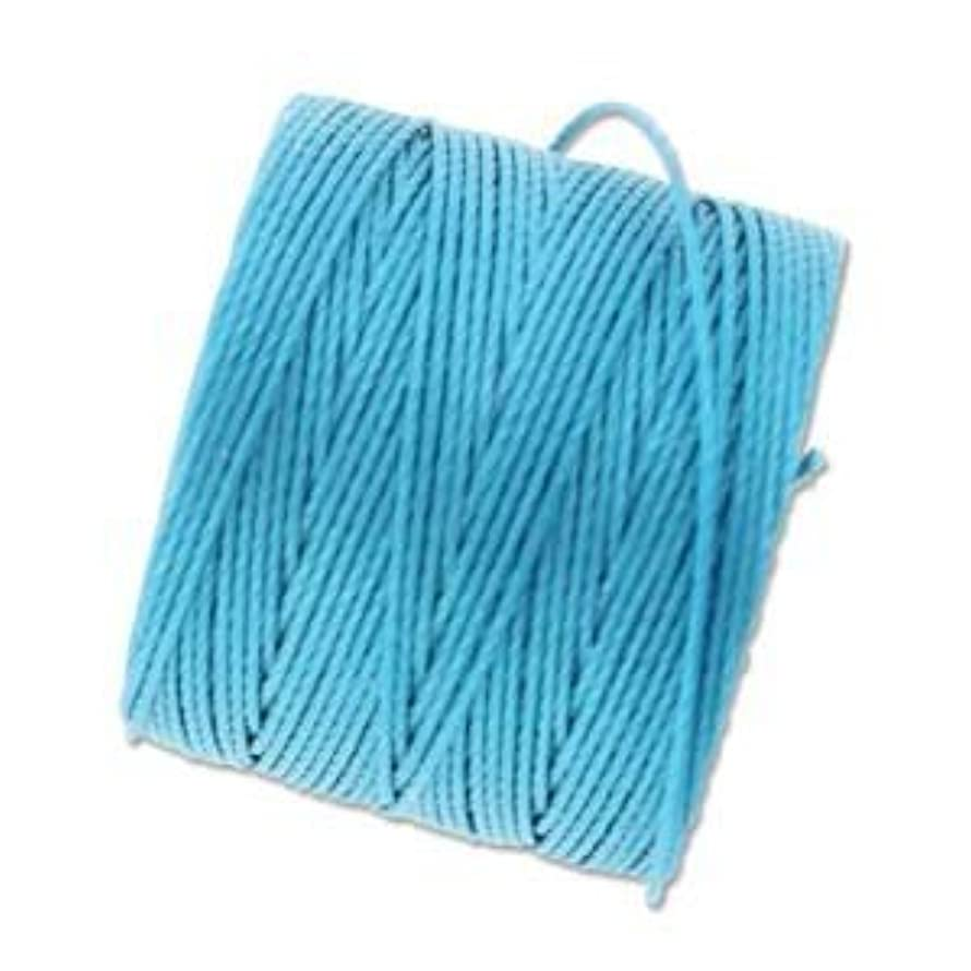 Bead Cord Nylon Superlon #18 Twisted 77 Yard Spool Bobbin BERMUDA BLUE