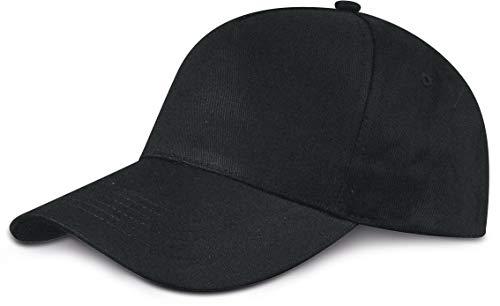 ShirtInStyle-Berretto unisex con chiusura in velcro, Unisex adulto, CAP2X001Schwarz, Nero , Unisex