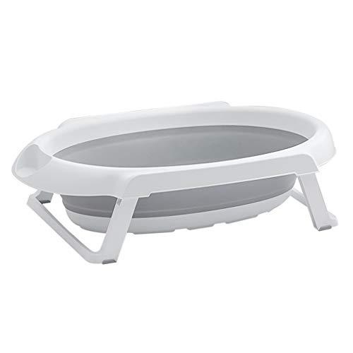 Kjz-bathtub Baby Badewanne, Dickem Kunststoff Bad Barrel Baby Care Center Bade Zylinder Tragbare Duschwanne 86 * 48 * 22 cm Große Becken Tricolor (Color : Gray, Size : 86 * 48 * 22CM)