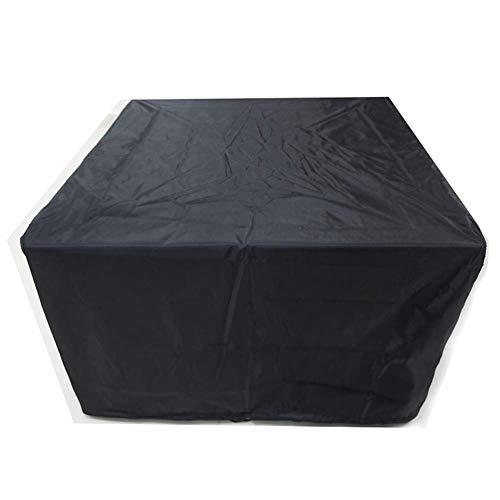 IDWOI Garten-Rattan-Möbel-Abdeckungs Oxford Stoff Wasserdicht Schutzhülle Verschleißfest, 26 Größen Kundengerecht (Color : Black, Size : 90X90X90CM)