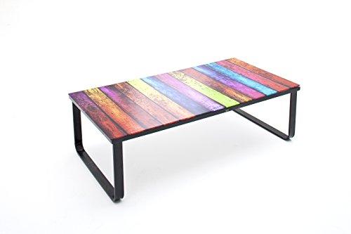 Robas Lund, Couchtisch, Wohnzimmertisch, Rainbow, Metall/bunt/schwarz, 105x 55x 32cm, 58317DR9