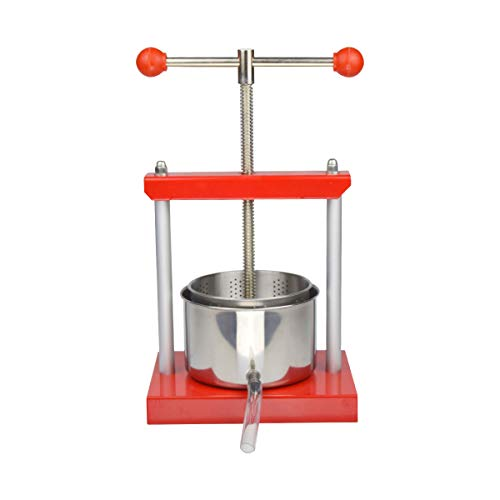 0.53 Gal Fruit Wine Press – 100% Natural Juice Making for Apple/Carrot/Orange/Berry/Vegetables,Stainless Steel Cheese&Tincture&Herbal Press