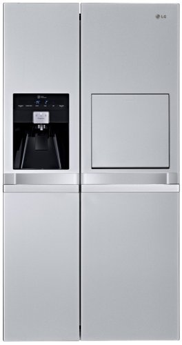 LG GSP545PVYZ Side by Side Kühl-Gefrier-Kombination / A++ / 362 L Kühlen / 178 L Gefrieren / premium platinum / NoFrost / Wasserspender / Smart Diagnosis