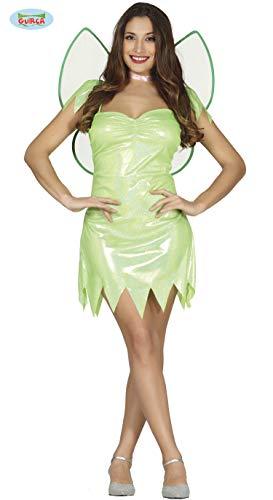 Guirca Costume Fatina Trilly Campanellino, Donna, Colore Verde, M (42-44), 84544