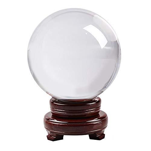 IWILCS - Palla di vetro per fotografia, 60 mm K9 con lente in vetro trasparente, sfera di cristallo trasparente per foto con supporto, ideale come regalo per amici 60 mm
