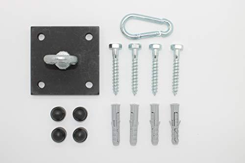 Eisen-Maenicke | Decken- & Wandhalterung | Boxsackhalterung | schwarz mit Karabinerhaken | bis 230 kg