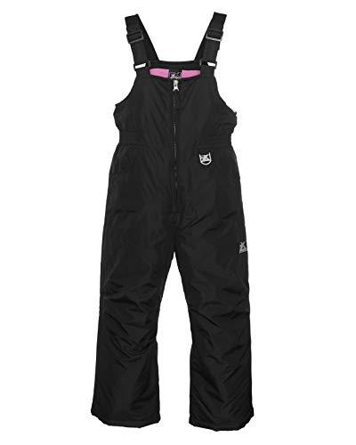 ZeroXposur Girls Snow Bib Water Repellent Insulated Kids Ski Pants (Black, Medium)
