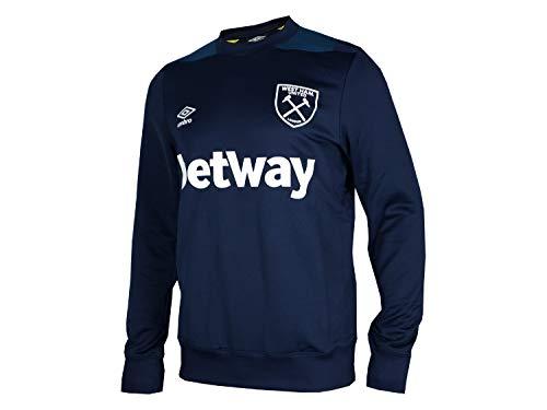 Umbro West Ham United Sweatshirt donkerblauw WUFC pullover Hammers Fanartikel
