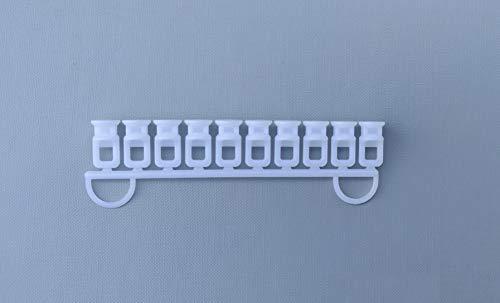 Rollmayer Aluminium Gardinenschiene Mini im Weiß mit Deckenbefestigung (30 x Weiß Ösengleiter) glänzend 1-läufig Vorhangschiene Innenlaufschiene für Schiebevorhänge, Gardinen und Vorhänge