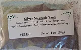 Raven Blackwood Fortune Telling Silver Magnetic Sand Lodestone Food Feed Your Offerings Success Charms Mojo Bags 1oz