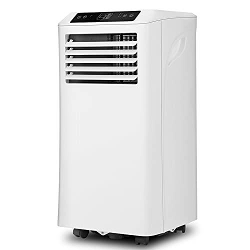 FYHpet 10000 BTU Acondicionador Aire móvil portátil enfriamiento Deshumidificación ventilación Control Remoto,Pantalla LED,Ventilador 2 velocidades,Temporizador 24 Horas Oficina Sala Estar Dormitorio