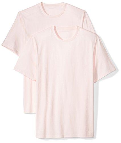 Amazon Essentials 2-Pack Short-Sleeve Crewneck T-Shirt Camiseta, Rosa (Light Pink), X-Small