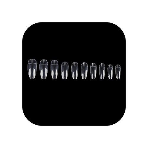 500 Stück/Set Französische Halbabdeckung Gefälschte Nägel Natürliche Farbe Acryl UV-Gel Falsche Spitzen Maniküre DIY Nagelkunst Salon Gefälschte Nägel Tipps-Clear-500PCS-Bag-