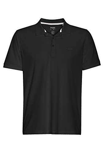 Basic Polo Pique Shirt Outdoor schwarz,L