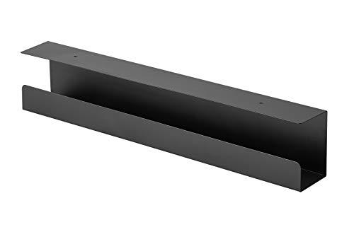 Value Kabelkanal | Untertischmontage | schwarz | Untertisch-Kabel-Organizer | Für eine saubere Kabelführung unter dem Schreibtisch