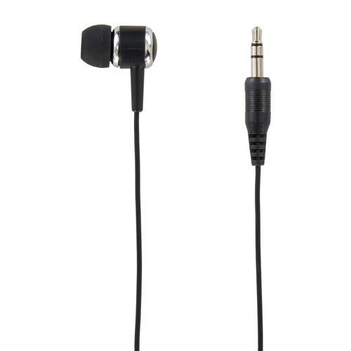 ヤザワ ダイナミック密閉型片耳カナルイヤホン(ブラック)YAZAWA 片耳イヤホン ステレオプラグ コード:1m TMS1061BK