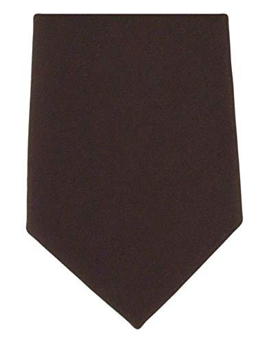 Michelsons of London Cravate marron foncé uni en soie de