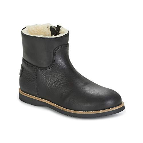 SHABBIES LOW STITCHDOWN LINED Enkellaarzen/Low boots meisjes Zwart Laarzen