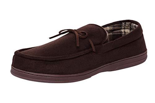 Van Heusen Mens Suede House Slippers flannel lined
