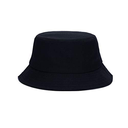 HPiano Sombrero de Pescador Unisex Diseño Liso Sombrero de Pescador de Material Cómodo Los Colores en Negro Son Todos Casquillos Disponibles para Usar con Ropa Casual Sombrero