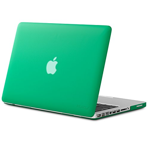Kuzy - MacBook Pro 13.3 inch Case A1278 Older Verision, Rubberized Matte Cover Hard Shell Case for MacBook Pro 13 inch with CD-ROM Release 2012-2008 - Forest Green