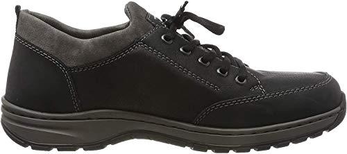 Rieker Herren 3360 Schuhe, Schwarz (Schwarz/Schwarz/Rauch 00), 44 EU