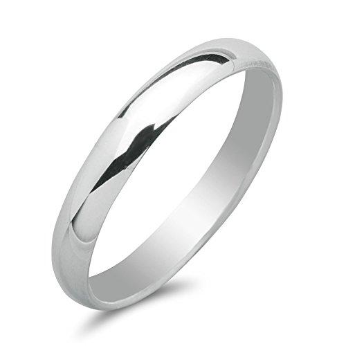 81stgeneration .925 Sterling Silver 3 mm Plain Band Engagement Wedding Thumb Toe Ring - O 1/2