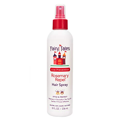 Fairy Tales Rosemary Repel Daily Kid Hair Spray- Lice Spray for Kids for Lice Prevention, 8 Fl Oz (Pack of 1)