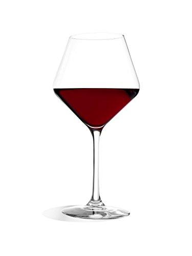 Stölzle_Lausitz Verres à vin de Bourgogne Revolution de, 545ML, Lot de 6, Verres à vin Rouge hautement Fonctionnels, Ballons à vin Rouge de caractère