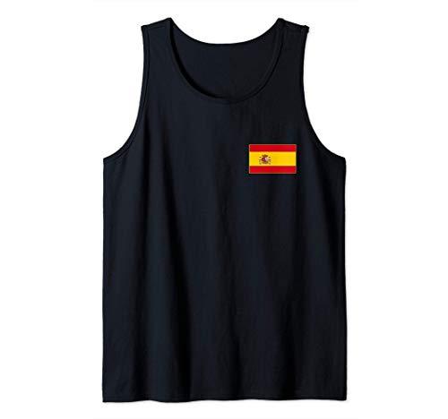 Bandera de España Spain Flag Banderas Españolas Hombre Mujer Camiseta sin Mangas
