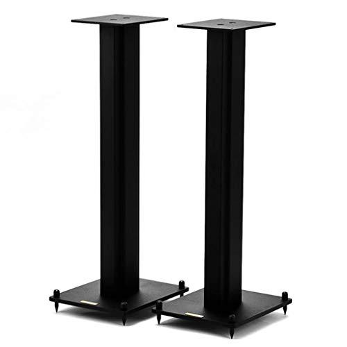 Standfüße Lautsprecherständer EIN Paar Lautsprecherhalterungen Parkett Kino-Surround-Halterung Monitor-Lautsprecherständer (Color : Black, Size : 40cm (15.7 inch))