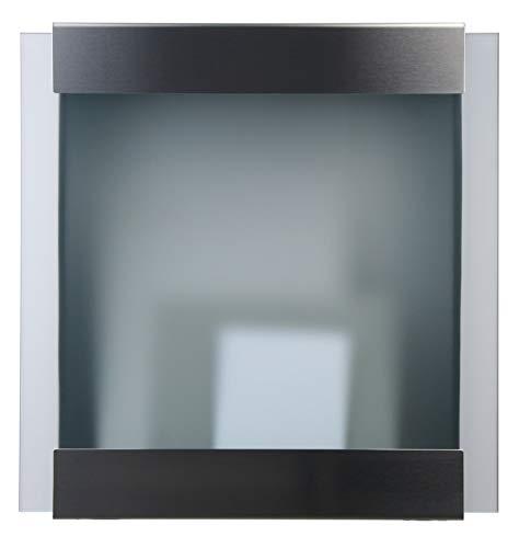 Keilbach Designprodukte 71100 Keilbach, Briefkasten glasnost.glass, Edelstahl/Sicherheitsglas, hochwertige Verarbeitung, Klassiker seit 2000, Design Award: FORM 2001, Schwarz, One Size