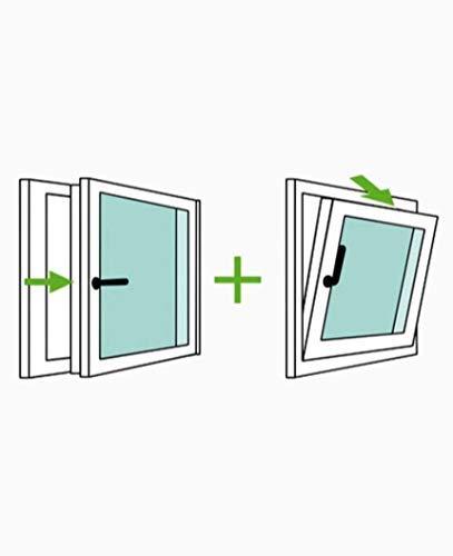 Finestra PVC 60 cm x 70 cm | REGALO Staffe di Montaggio | Bianco | Aperture a Vasistas | Elevato isolamento termico e acustico | Vetro Trasparente | Pratico | Resistente al sole | Apertura a Destra