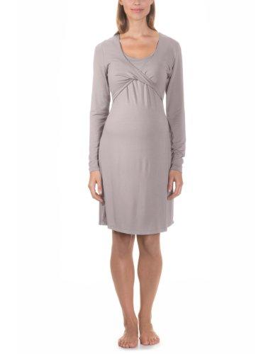 bellybutton Damen Milli 1/1 Arm Nachthemd, Grau (warm Taupe 80825), X-Small (Herstellergröße: XS)