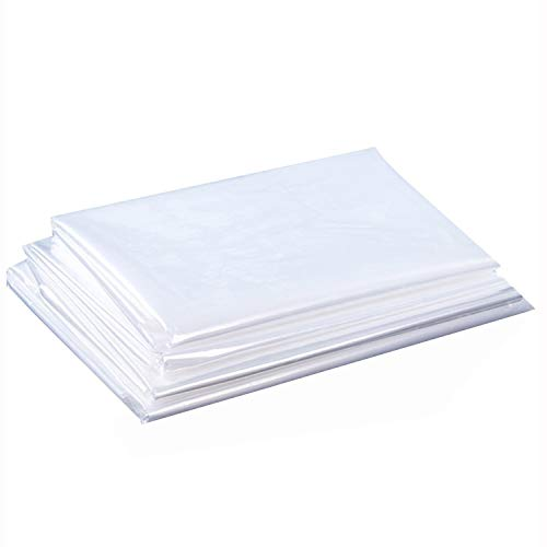 Clear Plastic Flat Open Poly Bags,32x42 Inches1.6 Mil Jumbo Large Storage Bags for Proving Bread, Dough, Storage, Packaging and More