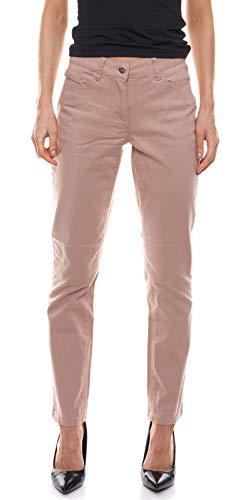 Aniston Stoff-Hose Bequeme Damen Twill-Hose in 5-Pocket-Form Kurzgröße Freizeit-Hose Sommer-Hose Altrose, Größe:36 (18 Kurzgröße)
