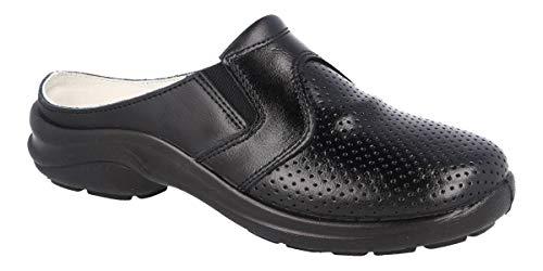 Zuecos Sanitarios Confort para Profesionales LUISETTI Zapato Zueco Línea Blanca 0035.2Menorca Talla 44 Color Negro