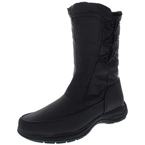 sporto Womens Dana Closed Toe Mid-Calf Cold Weather Boots Black