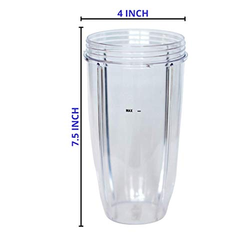 32oz Cup and Extractor Blade Replacement for Nutribullet Blender 32oz Cup and Blade Portable Highspeed Blender Food Processor Nutri Blender 600W/900W