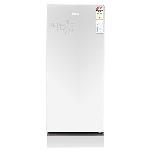 Haier 195 L 4 Star Direct Cool Single Door Refrigerator (HRD-1954PMG-F, Mirror Glass, Base drawer)