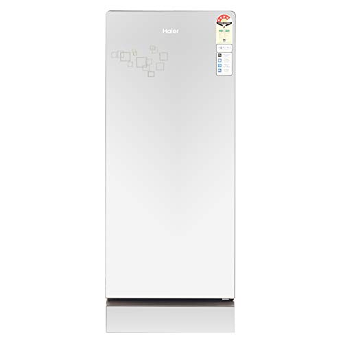 Haier 195 L 4 Star Direct Cool Single Door Refrigerator (HRD-1954PMG-F, Mirror Glass, Base drawer)
