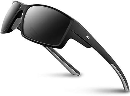 RIVBOS Gafas de sol polarizadas deportivas para hombres TR90 marco irrompible RB831