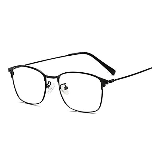 NJKJ Brillen Sun Photochrome Linse Quadratische Kurzsichtige Brille Anti-Blau-Licht-Brille Dioptrien 0 -0.5 -1.0 Bis -4.0-Schwarz_-175 (-1.75)