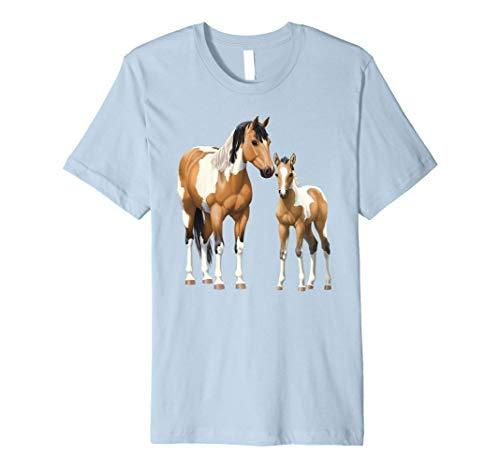Buckskin Paint Quarter Horse Pinto Mare & Foal T-Shirt