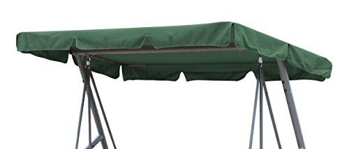 GRASEKAMP Qualität seit 1972 Ersatzdach Universal Hollywoodschaukel Grün Ersatz-Bezug Sonnendach Dachplane