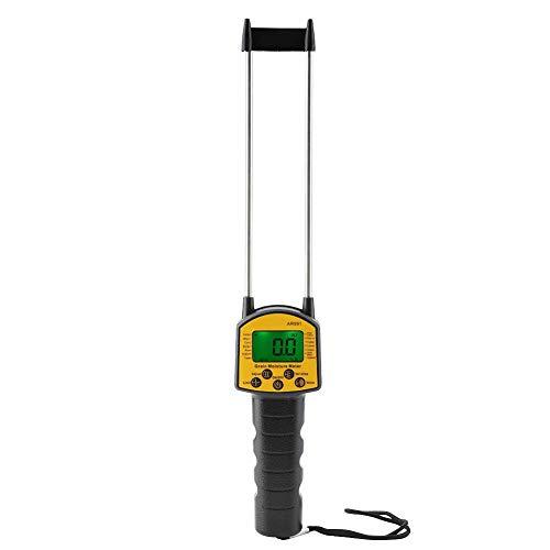 Digitales Getreide Feuchtemessgerät, Korn Feuchtemessgerät AR991 mit LCD Display und Doppelstab Stahlsonde für Haus, Garten, Pflanze, Landwirtschaft und Rasen