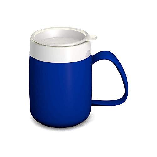 Ornamin Becher mit Trink-Trick 140 ml blau mit Thermofunktion und Trinkdeckel (Modell 207 + 814) / Spezial-Trinkhilfe, Nasenbecher, Schnabelbecher