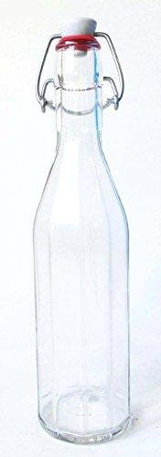 Nutley 's 750 ml glazen flessen met keramische beugelsluiting (12-delig)
